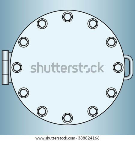 Illustration of the manhole icon - stock vector