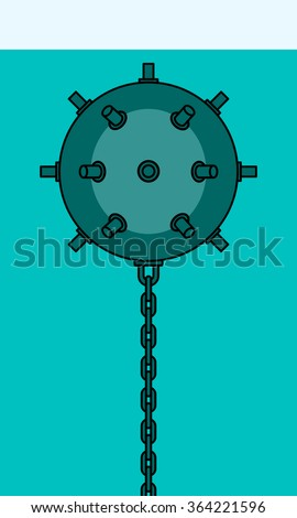 Illustration of the naval mine icon