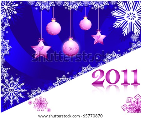 Illustration of the new year background with decorations