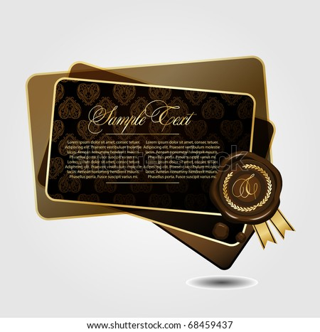 Illustration of the sealing wax - stock vector