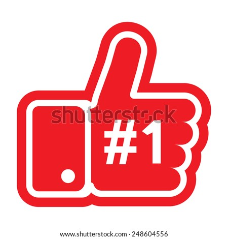 Illustration of the thumb up symbol. Isolated on white - stock vector