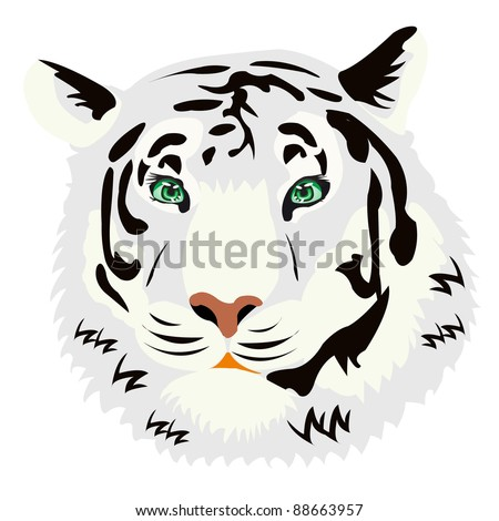 Illustration of the tiger on white background
