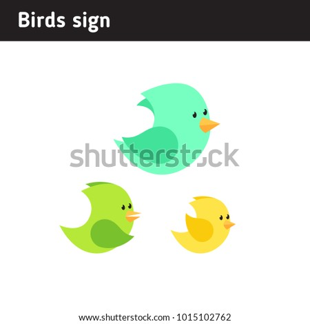 illustration of three birds, in a flat style