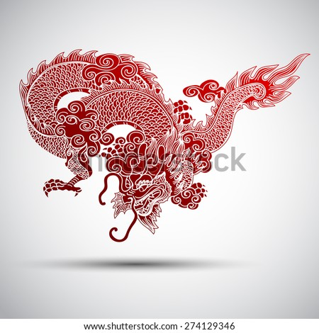 Illustration of Traditional chinese Dragon ,vector illustration - stock vector