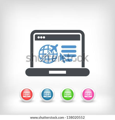Illustration of travel agency website icon - stock vector