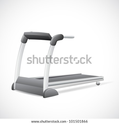 illustration of treadmill on abstract background - stock vector