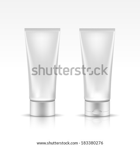 Illustration of Tube for Cosmetic Package Isolated on White Background - stock vector