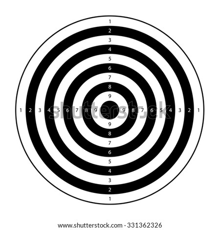 illustration of two color target on white background