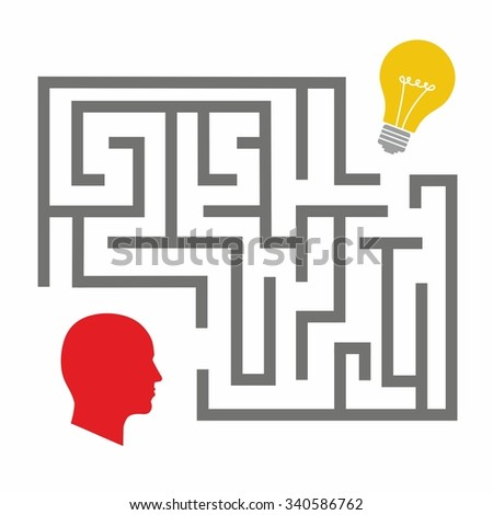 Illustration of two different thought processes combining as one. Start up concept. Search idea. mechanisms, communication, lamp like inspire - stock vector