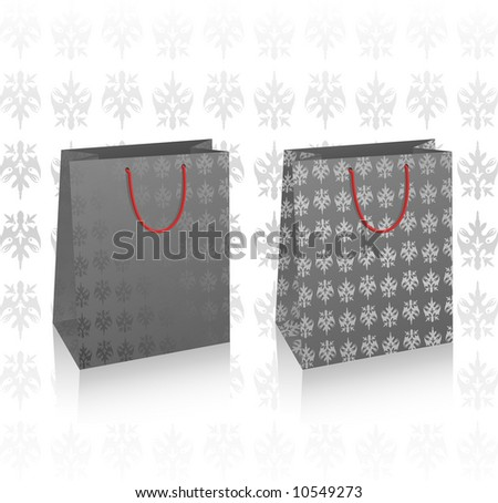 Illustration of two vector black bags
