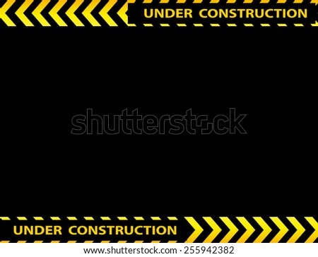 Illustration of under construction background with empty space - stock vector