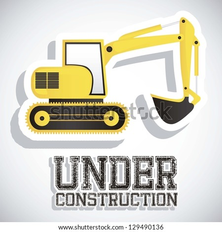 Illustration of under construction, Construction Icons, Site, worker, tools, vector illustration - stock vector