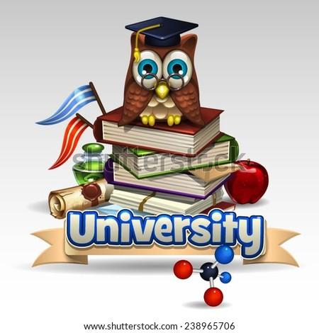 Illustration of university icon - stock vector