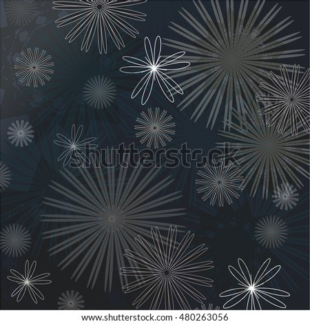 Illustration of vector background Vector wrapping paper flowers. Vector card flowers.
