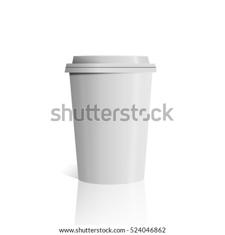 Illustration of Vector Coffee Cup Isolated on White Background photorealistic 3D vector eps 10 mockup