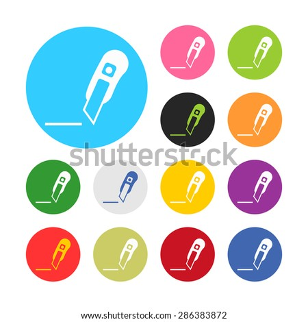 illustration of vector office modern icon in design
