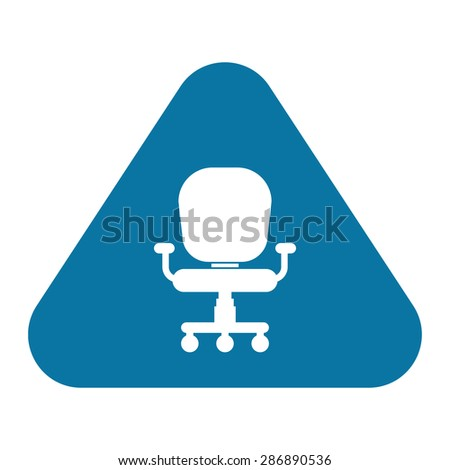 illustration of vector office modern icon in design - stock vector