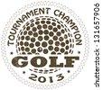 illustration of vintage golf label. sports logo element - stock vector