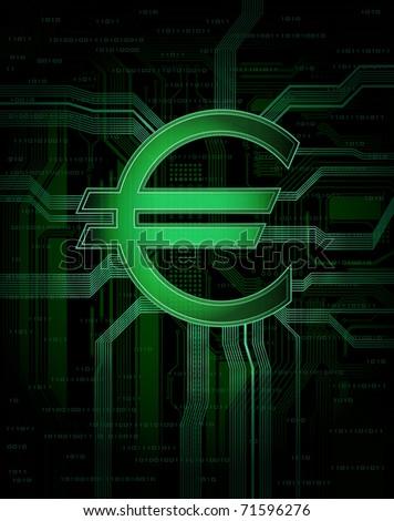 Illustration of virtual, electronic money. Eps10 vector - stock vector