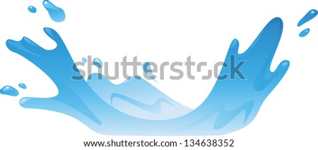 Illustration of Water Splash - stock vector