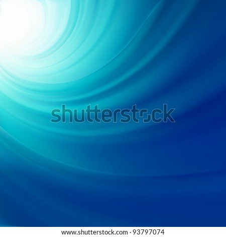 Illustration of water swirling. EPS 8 vector file included - stock vector