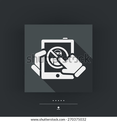 Illustration of web access data protection - stock vector