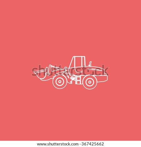 Illustration of wheel loader. - stock vector