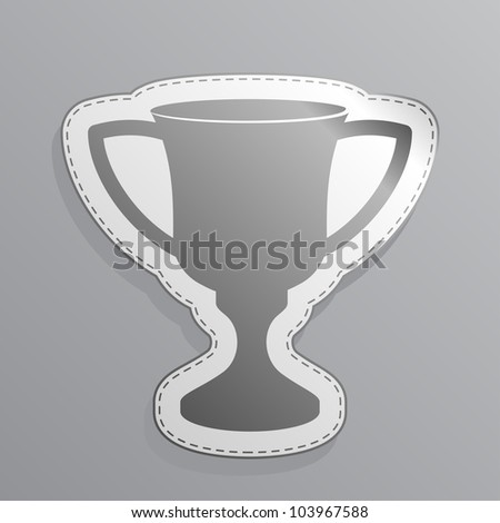 Illustration of white sticker cup icon