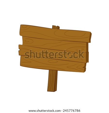 illustration of wooden sign, pointer for your design  - stock vector