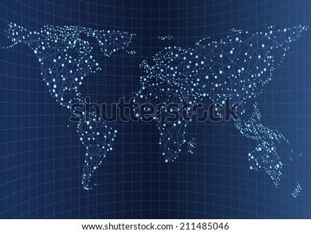Illustration of world communications, EPS 10 contains transparency - stock vector