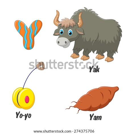 Illustration of Y alphabet - stock vector