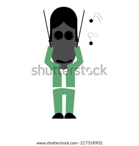 Illustration of zombie Conductor - stock vector