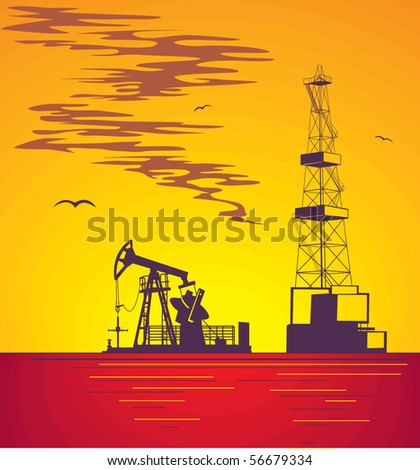 Illustration oil industry and crude production