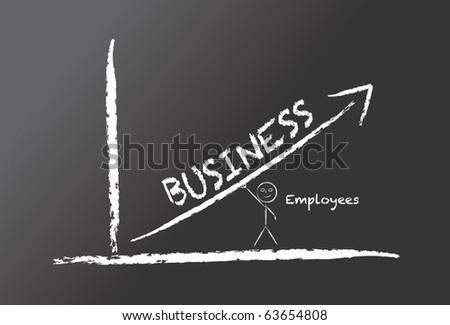 Illustration on a chalkboard - stock vector