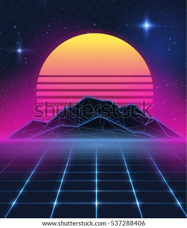 Group of New Retro Wave Wallpaper 90S