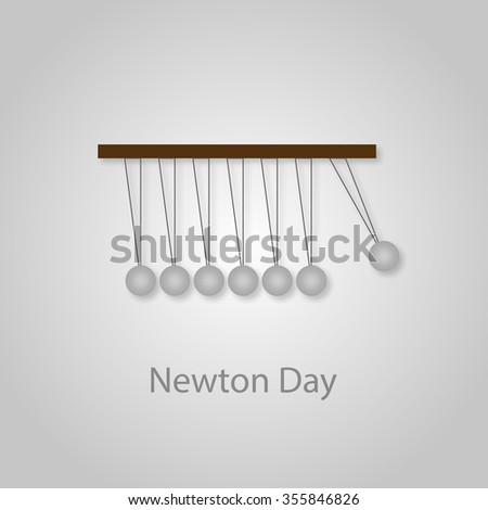 Illustration on the theme of the day Newton on a gray background - stock vector