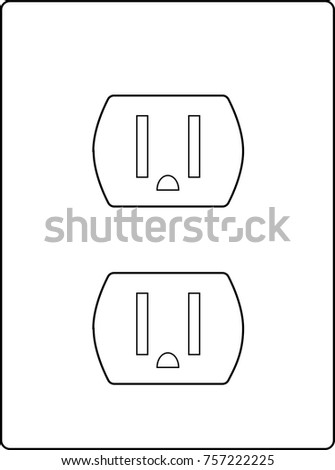 Illustration Vector Alternating Current Electrical Wall Stock Vector ...