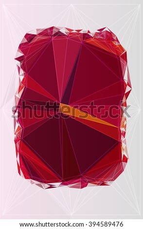 illustration origami abstract backdrop