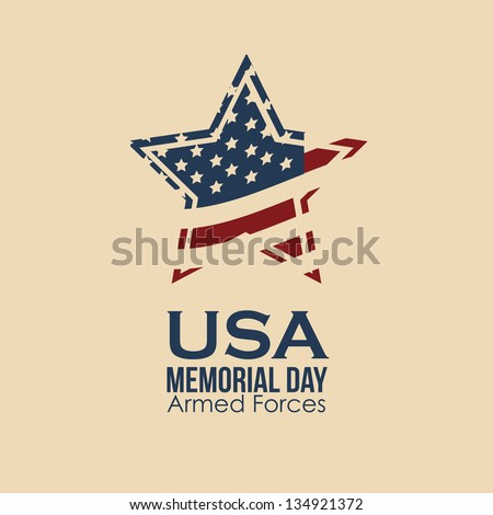 Illustration Patriotic United States of America, USA, vector illustration - stock vector