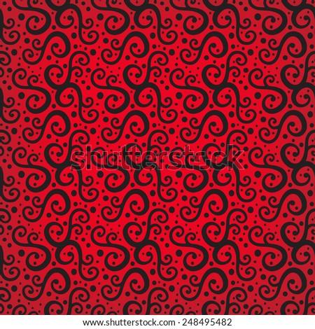 Illustration pattern background, seamless - stock vector