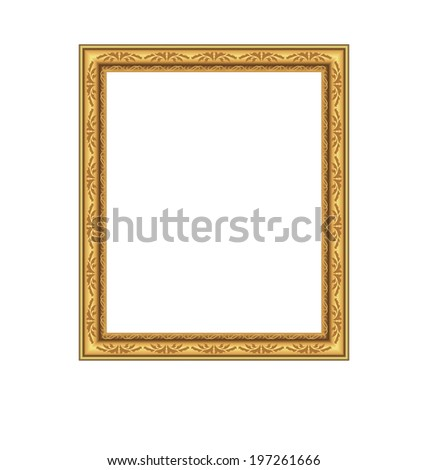 Illustration picture ornate frame isolated on white background - vector - stock vector
