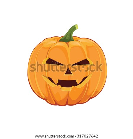 illustration. pumpkin for Halloween - stock vector