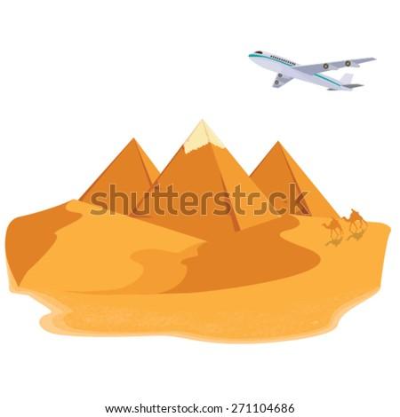 illustration. pyramid egypt. - stock vector