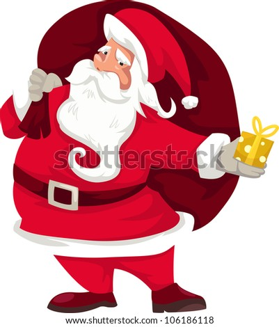 illustration santa claus vector
