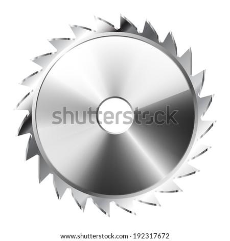 Illustration Saw Blade . Icon. Vector. eps 10. - stock vector
