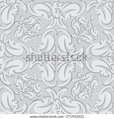 Illustration seamless texture with decorative ornaments resembling a stencil. - stock vector