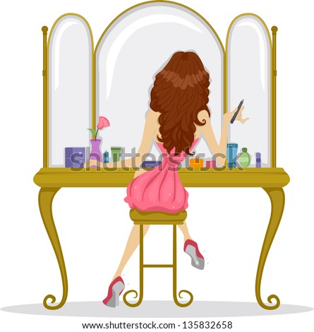 illustration showing back view prom queen stock vector 135832658 rh shutterstock com