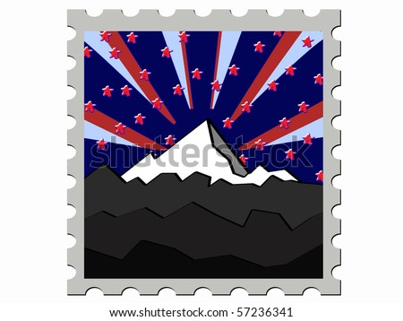 illustration  stamp vector illustration - stock vector
