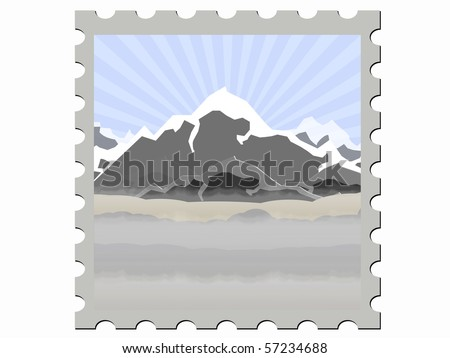 illustration  stamp vector illustration  day - stock vector