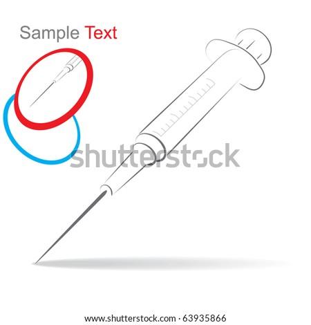 illustration syringe - stock vector